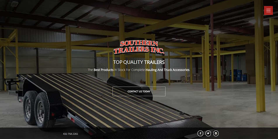 Southern Trailers Inc. website
